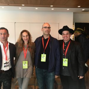 Left to right: Maurice Bernstein, Fiona Bloom, Jedd Katrancha and Ryan Barkan on The Power of Influence in the Digital Music Industry