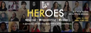 HEROES is April 15 in NYC